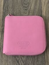COACH PINK LEATHER CD CASE GOOD PRE-OWNED CONDITIONS