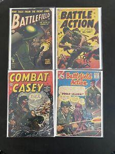 Battle Action-Battle Field-Combat Casey Atlas Comics Golden Age Classic Covers