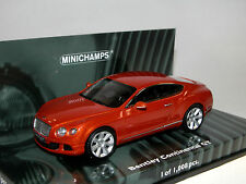 Minichamps 436139981, Bentley Continental GT, 2011, orange metallic, 1:43