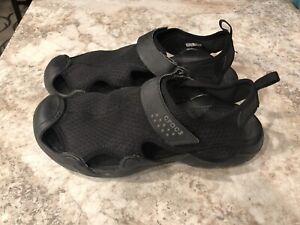 Crocs Swiftwater Sandals Casual Mesh Comfort Fisherman 15041 Men's Size 10 Black