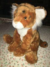 """Large Big Fiesta Toy 16"""" Sitting Orange White Bengal Tiger Plush Stuffed Animal"""