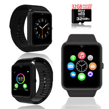 UNLOCKED! GSM 2-in-1 Smart Watch Phone Camera SIM-Card Slot ~ Free 32GB microSD