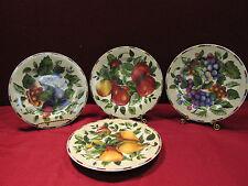 "(4) Sakura Sonoma 8 1/4"" Salad Plates Fruit Motiff"