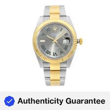 Rolex Datejust 41 18K Oro Acero Reloj de hombre Automático con Marcador De Pizarra Wimbledon 126333