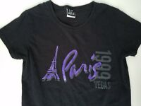 Women's Paris Casino Hotel Las Vegas Black Purple T-Shirt Size S