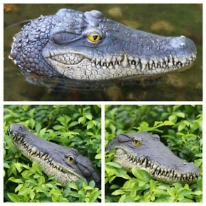 Floating Crocodile Head Pond Pool Alligator Water Features Garden Decors Hot!