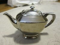 Vtg P A Porzellan Arzberg Bavaria silver metallic finish china teapot, Germany