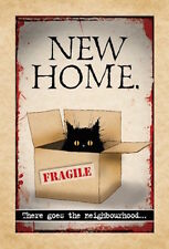 MAD OLD CAT LADY GREETING CARD: NEW HOME - NEW IN CELLO