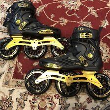 LIKU Black&Gold Performance 125 3WD Speed Skates Unisex Size M 7/W8