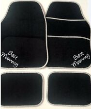 Personalised Car Mats BEST MUMMY gift Mum Best Daddy *OR UR OWN TEXT Embroidered