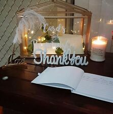 Thank You MDF Wooden Letters freestanding sign gift, wedding decor, birthday