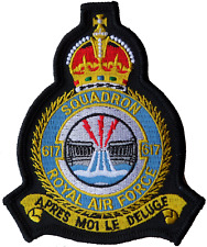 No. 617 'dambusters' Squadron Royal Air Force RAF Crest Mod Embroidered Patch