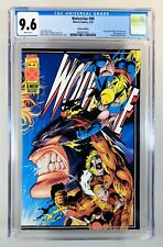 WOLVERINE #90~Marvel, 1995~Deluxe Variant w/ Fleer Trading Cards~NM+ CGC 9.6 WP