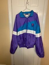 Taco Bell 1990s Crest Zipper Teal Blue & Purple Wind Breaker Jacket Size XL