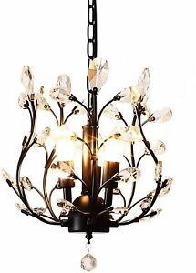 Ganeed Vintage K9 Clear Crystal Chandeliers,Ceiling Lighting, FLUSH MOUNT