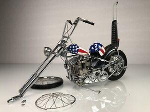 Franklin Mint Easy Rider Chopper Harley Davidson Stars & Stripes 1/10 Diecast