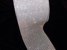 1ft 6 row diamonte crystal cake decoration dance costume ribbon mesh rhinestone
