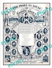 OLD LARGE HISTORIC IRELAND 1916 EASTER RISING IRISH MARTYRS POSTER