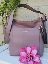 Rare COACH LEGACY duffle 25678 MAUVE purple pebbled leather shoulder bag purse