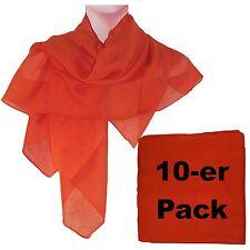 Pañuelo naranja pack 10 algodón 100x100cm fular accesorio moda