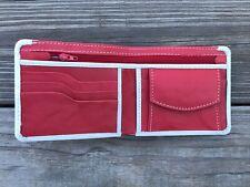 Christmas Wallet Card Holder Men Purse White/Red Wallet Handmade Bifold Wallet