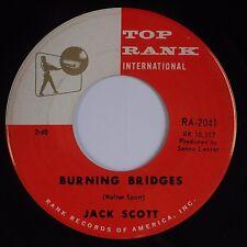 JACK SCOTT: Burning Bridges / Oh Little One TOP RANK Teen Rock 45 VG+