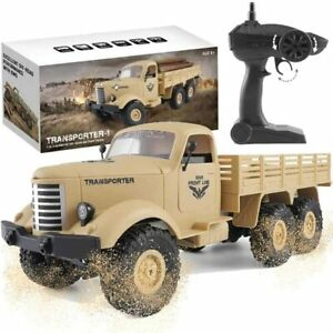 1:16 Remote Control Army Toy Truck 6WD Off-Road Car Half Proportion T