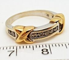 Fancy Diamond Ring - 18ct White and Yellow Gold (5888T)