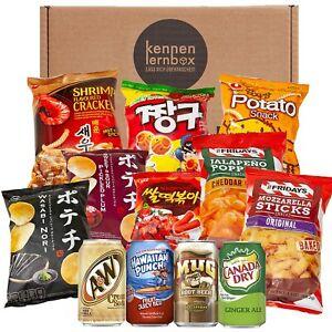 Snack Party Box   12 beliebten Chips und Getränke aus den USA, Korea und Japan