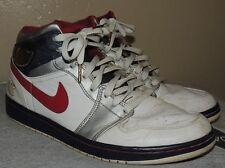Nike Air Jordan I Retro 1 OLYMPIC WHITE RED NAVY BLUE SILVER 136085-161 Sz 10.5