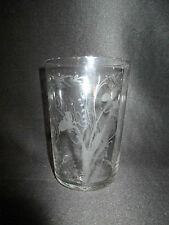 ancien verre communion gravé Nancy 1907 verre soufflé Art Nouveau début XX ème