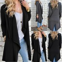 Women Long Sleeve Knitted Cardigan Loose Sweater Outwear Coat Casual Cardigan