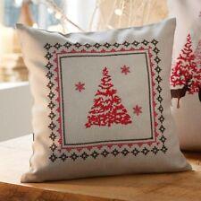 Kissen Tanne mit Reißverschluss 30cm x 30cm Dekokissen Weihnachten