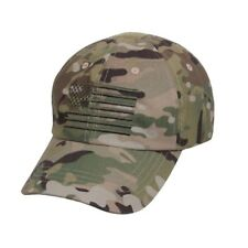 MultiCam Camo USA Flag Ball Cap US Army USMC Navy SEAL Tactical Operator Hat