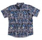 MATIX Aloha Camo Woven Shirt (L) Ash Blue