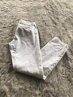 Anthropologie Pilcro and the Letterpress White Mid Rise Hyphen Pants Women's 28?