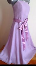 Stunning Debut Pink/silver Strapless Dress Size 8 Prom Dress