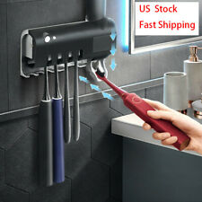 Toothbrush Holder Cleaner UV Light Automatic Home Bathroom Toothpaste Dispenser