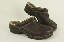 Born Brown Pebbled Leather Closed Toe Size 8 Slip On Women's Mule comfort Shoes