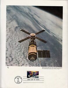 1974 Skylab Space Station Sc 1529 FDC 8X11 inch Marg cachet, commercial letter