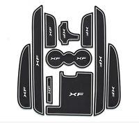 For Qashqai 08-15 QASHQAI Car Interior Gate Slot Mat Cup Holder Rubber Mat Red