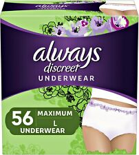 New Incontinence Underwear for Women, Maximum, Large, 56 Count