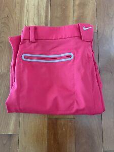 Nike Golf Tour Performance Pants Dri-Fit Hyper Red / Crimson Men's Size 32 x 32
