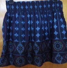 Ecote urban outfitters blue purple tribal boho festival skirt pockets EUC sz L