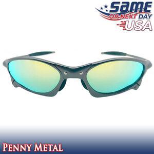 Penny X-Optics Metal Frame Polarized Sunglasses with Gold Iridium Lenses