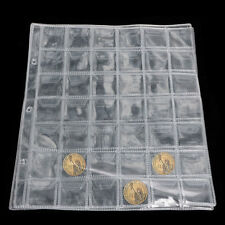 42 Pockets Classic Coin Holder Sheets For Storage Collection Album Case