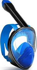 Full Face Snorkel Mask, Snorkeling Mask w Dry Top System, 180Panoramic (L)