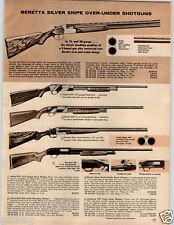 1964 PAPER AD Beretta Silver Snipe Over Under Shotgun 12 20 Gauge Hawk Mossberg