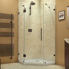 PrismLux Neo Angle Shower Enclosure 42 X 42, Oil Rubbed Bronze, Satin Black