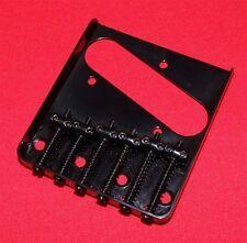 Guitar Parts TELECASTER BRIDGE - Vintage 6 Saddle - Top & Bottom Load - BLACK